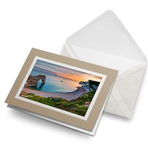 Greetings-Card-Biege-Durdle-Door-Sunset-Beach-England-16182