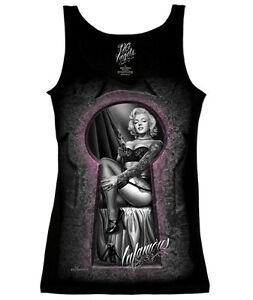 DGA-David-Gonzales-Art-Infamous-Marilyn-Monroe-Biker-Punk-Ladies-Tank-Top-S-2XL