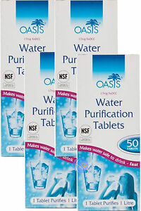 OASIS-WATER-PURIFICATION-TABLETS-8-5mg-50-039-s-Multi-Packs-Available-Bulk-Buy