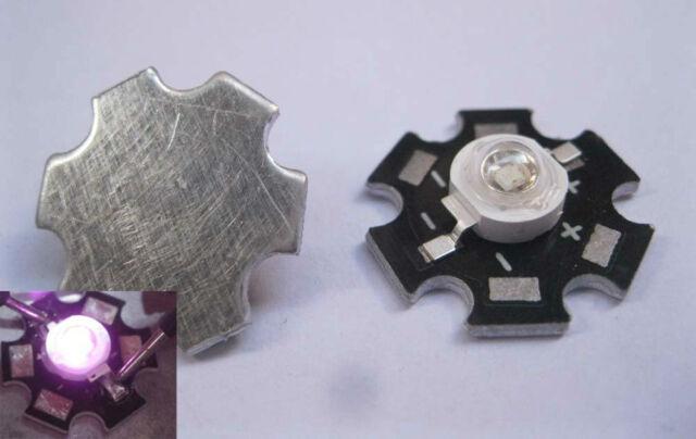 3W UV Ultra Violet Hihg power LED 3Watt LED 395-405nm with 20mm Star Base