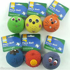 Good Boy Dog/Puppy Toy Latex Squeaky Face Ball Fetch Toy