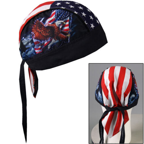 Biker Chopper Amerika Flagge Kopftuch Bandana Headwrap USA Electric Eagle Adler