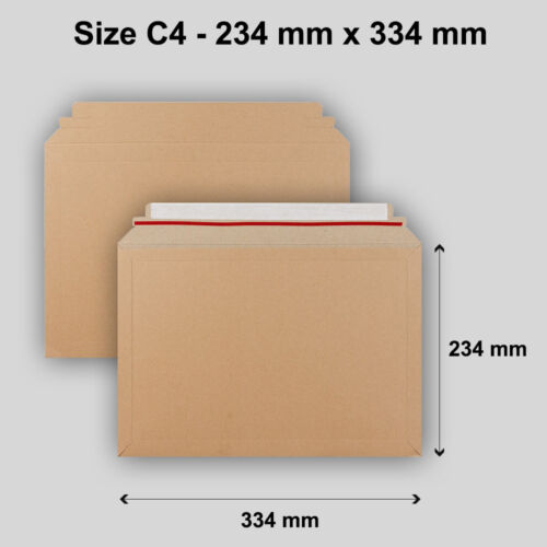 Quality C4 Size Manilla Capacity Book Mailer Peel /& Seal Strong Envelopes