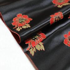 Chinese Costume Buddhist Decoration Damask Satin Jacquard Brocade Fabric Lotus