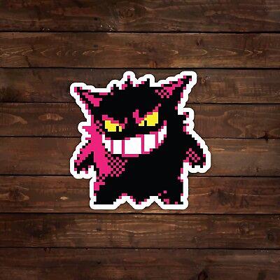 Decal//Sticker Pokemon 8-Bit Haunter