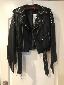 Leather Black Zara Jacket Black Zara ZnRzn8gqx
