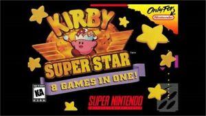 KIRBY SUPER STAR SNES SUPER NINTENDO GAME COSMETIC WEAR ...