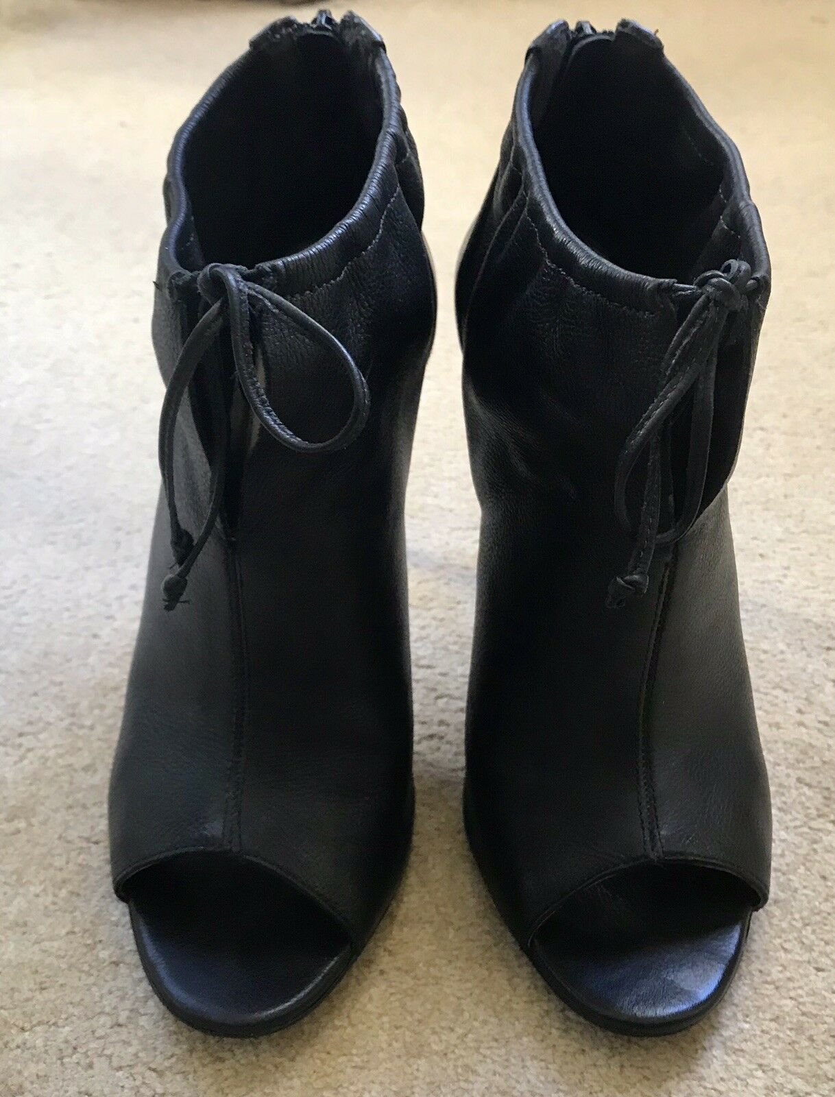 Aldo Black Leather Ankle High Heel shoes, Size 8 (41)