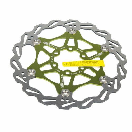 SNAIL 160//180//203MM Floating Disc Brake Rotor MTB Bicycle 6 Bolts Caliper CNC UK