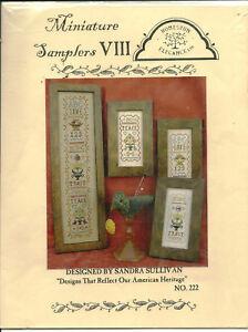 Miniature-Samplers-Love-Peace-Trust-Sampler-Cross-Stitch-Pattern-Chart-Pak