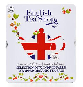 English-Tea-Shop-Biologique-Union-Jack-Cadeau-Boite-The-Sacs-Paquet-de-72