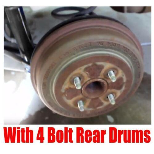 Rotors Drums Brake Pads Shoes Spring Kit for Chevrolet Cobalt 4 Bolt 05-10