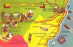 uk9774 aberdeen and royal deeside scotland uk map carte
