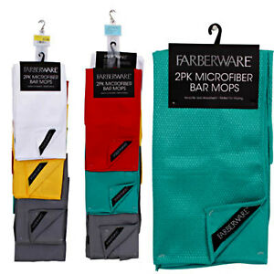 Image Is Loading Farberware Microfiber Bar Mop 2 Pack Kitchen Towels