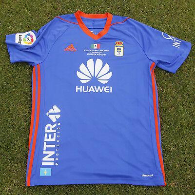 Superficie lunar Tiranía Tormenta  FuerzaMéxico Camiseta Original Real Oviedo adidas Mossa #23 match worn    eBay
