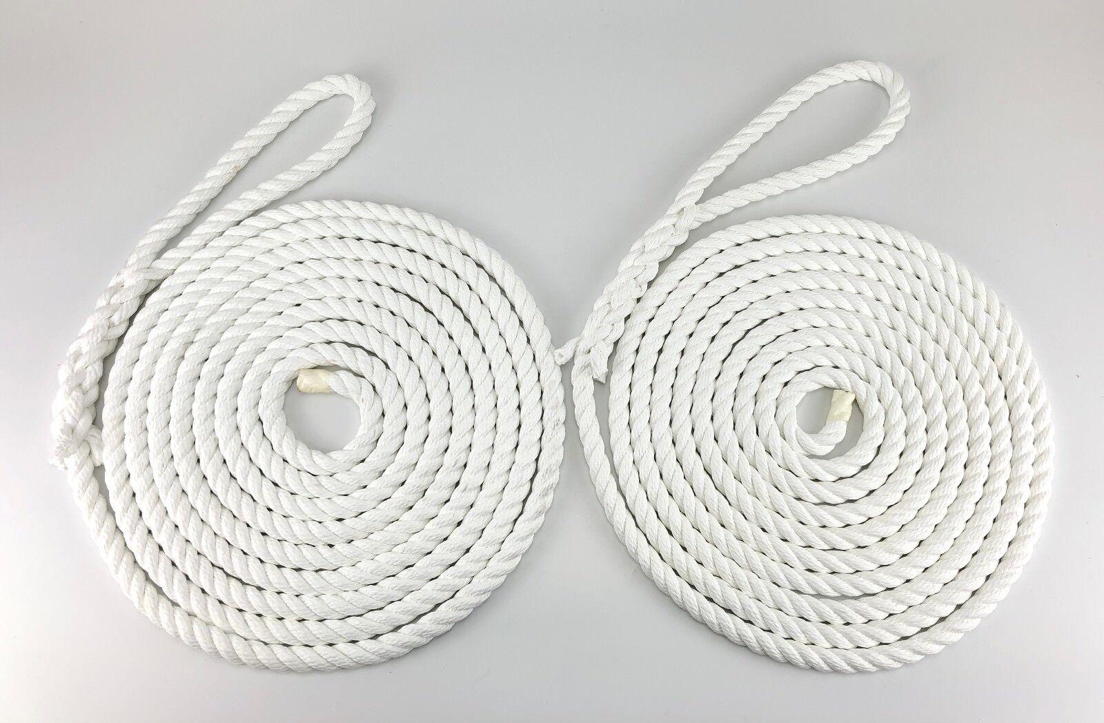 2 x 4 metres de 10mm Blanc amarrage amarrage amarrage Les cordes. chaîne, Bateau lignes, Yachts, c129b7