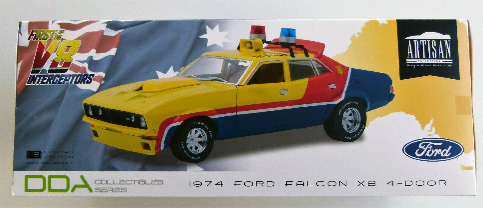 1 18 Mad-Max Ford Falcon XB Sedan 1974 Interceptor MFP (Mel Gibson) DDA