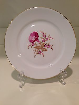 Antiques Hochst Hand-painted Porcelain Magenta/gold Colored Plate #2 Made In Germany New Pleasant To The Palate Plates & Chargers