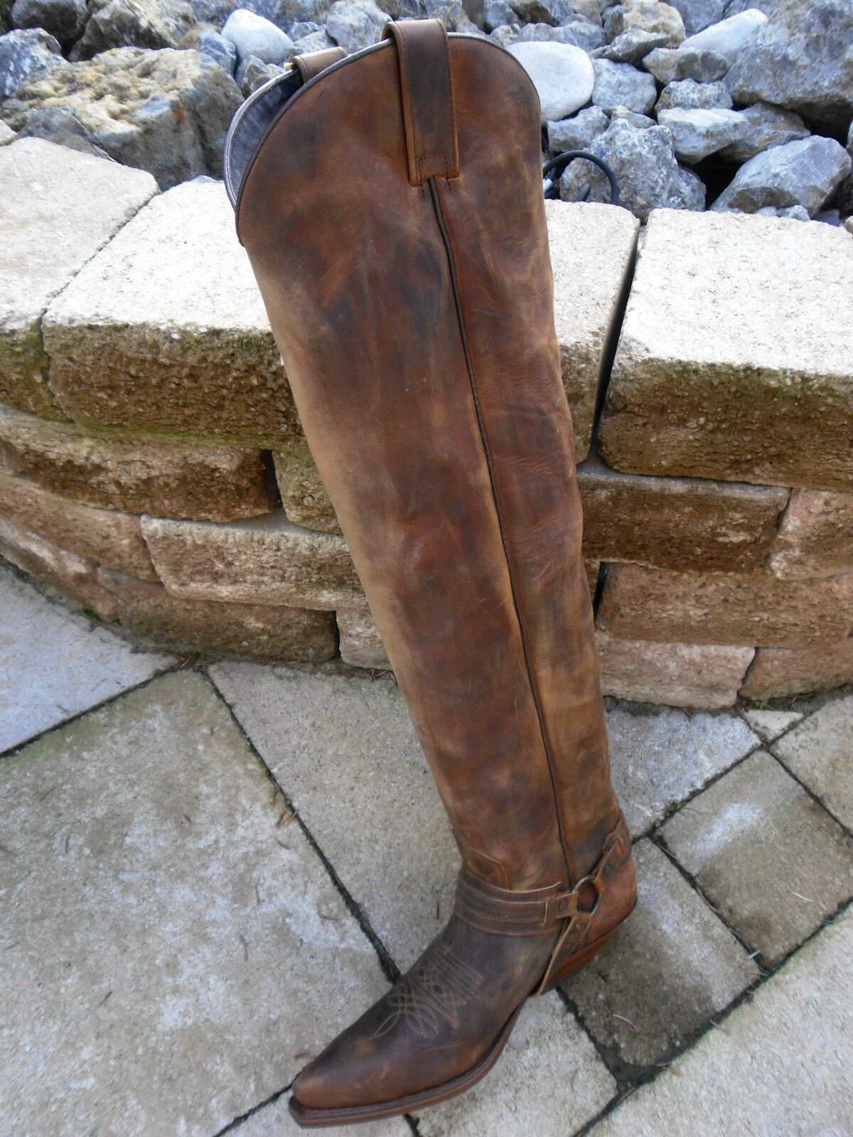 Sendra altamente gambale-Western Stivali 10757-Cuervo antico Marroneee (M.D. T.L.) TG 9 = 43