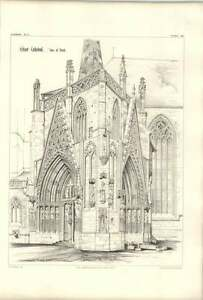 1858 Erfurt Cathedral View Of Porch - <span itemprop=availableAtOrFrom>Bishop Auckland, United Kingdom</span> - If for any reason you are not satisfied with your item, do let us know. If you wish to return it, you may, within 7 days, and we will issue you with a full refund. Most purchases  - Bishop Auckland, United Kingdom