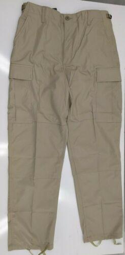 Khaki Uniform Work RipStop BDU Pants Cargo Pockets Size MR 31-35 x 30-32 Rescue