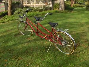 Vintage-SCHWINN-De-Luxe-TWINN-red-5-Speed-Tandem-Bicycle-ORIGINAL-1978-w-Manual