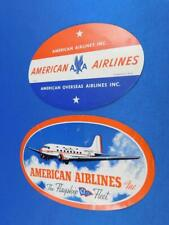 """#4258 American Airlines Flight Luggage Label Phone 1x13cm 0.5x5/"""" Decal STICKER"""