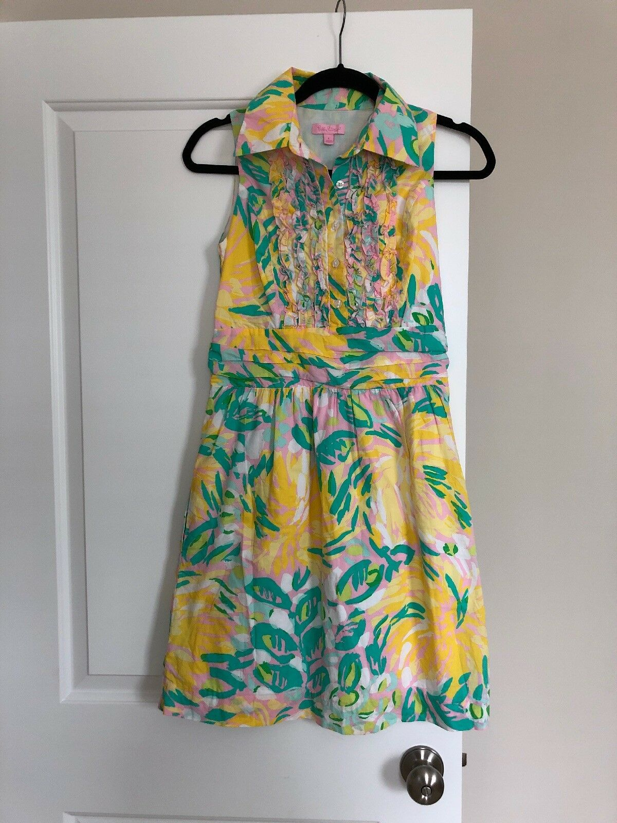 LILLY PULITZER ESSIE DRESS DRESS DRESS Lilly's Pink Lilet retail  248.00 Size 4 Easter b2502e