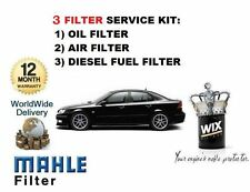 FOR SAAB 9-3 93 2.2 TiD  2002-2004 new OIL AIR FUEL 3 FILTER SERVICE KIT