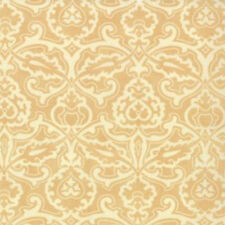 Moda Fig Tree Quilts Honeysweet Scrollwork Damask Fabric in Biscuit 20214-18