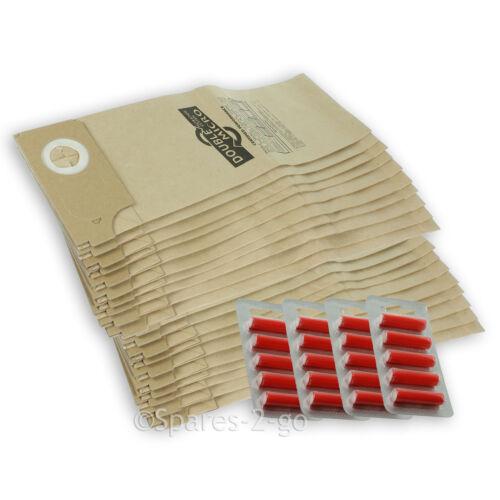 20 x Sebo Vacuum Cleaner Hoover Dust Bags 350 360 460 BS36 BS46 Bag Fresheners