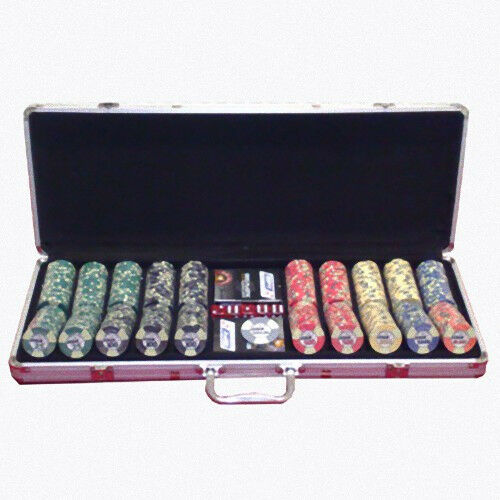 Set completo 500 Fiches Ceramica EPT European Poker Tour Replica 2007 bordi all.