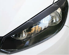 VW Volkswagen Golf MK6 de Fibra de Carbono Faro Cejas Párpado Pegatina De Vinilo