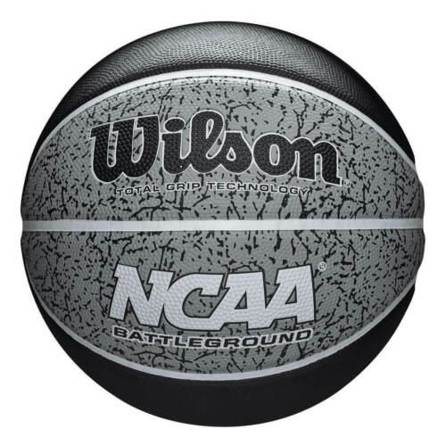 Wilson Basketball NCAA Grey Black Battleground Size 7 All Surface 295