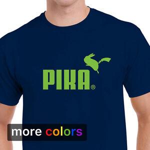 3852c347840 Image is loading Pokemon-Go-PUMA-Parody-Mens-T-shirt-Pika-