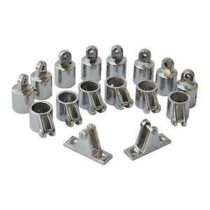 """4 Bow Bimini Top Boat Stainless Steel Fittings Marine Quality Hardware Set 1/"""""""