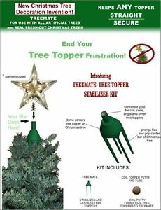 Image Is Loading Treemate Christmas Tree Topper Ilizer Kit And Holder