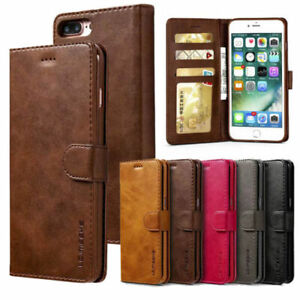 Leather Wallet Magnetic Flip Case Cover Stand For iPhone SE 6 7 8 Plus XS MAX 6S