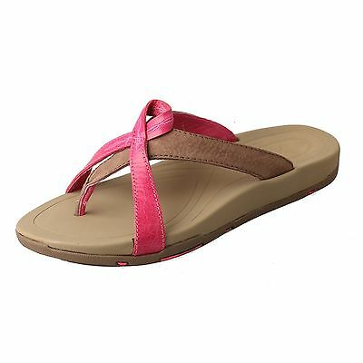 262ca0b0e26bf TWISTED X WOMEN'S PINK/STONE BREAST CANCER LEATHER FLIP FLOP SANDALS  WSD0006 | eBay