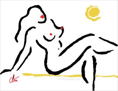 JACQUELINE DITT - Hot Girl Original Grafik handsigniert Akt Bilder Druck