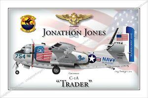 Details about Aircraft,Grumman,C1A,TRADER,T1F,transport,COD,CARRIER,Blue  Ghost,warbird