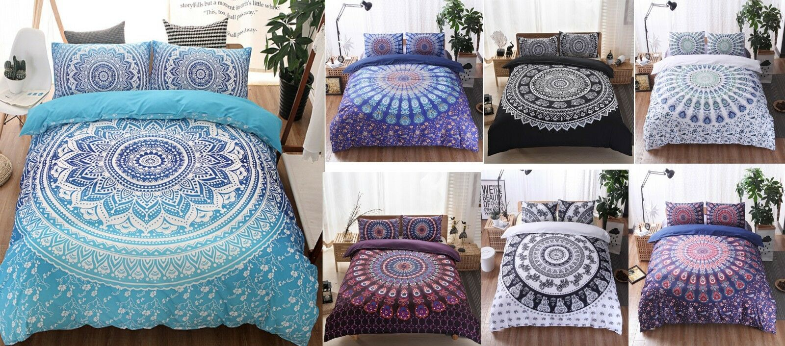 Beautiful Bohemian Style Twin Queen King 2 3 PCs Duvet Covers Pillowcases Set
