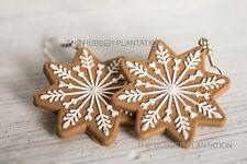 Novelty Festive Christmas Earrings Gingerbread Snowflake Party Fun Xmas Gift New