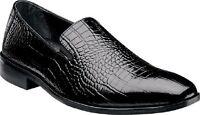Stacy Adams Mens Shoes Galindo Black Crocodile Print Leather 24996-01 Size 9w
