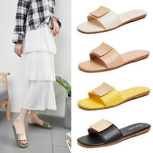 Summer-Women-Slippers-Sandals-Open-Toe-Indoor-Outdoor-Casual-Flats-Shoes-US4-5-9