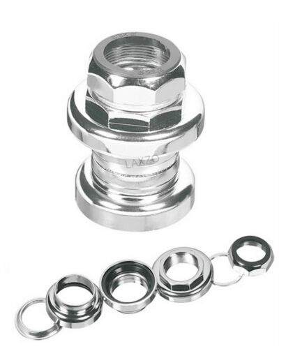 """S101G Bicycle Threaded Steel Headset With Bearings Ergotec 1/"""" Silver"""