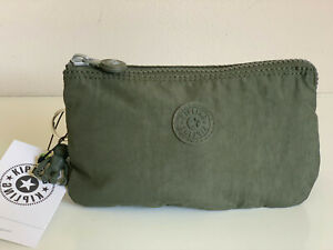 KIPLING-CREATIVITY-LARGE-TRAVEL-POUCH-MAKEUP-BAG-ORGANIZER-WALLET-JADED-GREEN