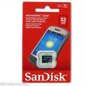 Sandisk-32GB-32G-MicroSD-card-MicroSDHC-New-Memory-Micro-SDHC-TF-BRISBANE