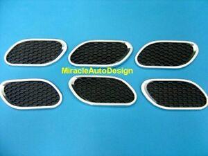 6-PCS-Maserati-Style-Fender-Air-Vent-Set-Black-Chrome-For-Mercedes-Benz-BMW-VW