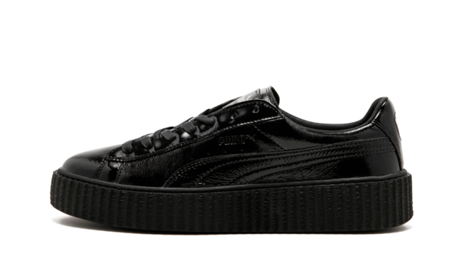 finest selection fca06 be1be Fenty PUMA Rihanna Men's Black Cracked Leather Creeper Shoes 11